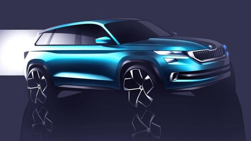 Skoda VisionS – Imagini teaser cu viitorul SUV