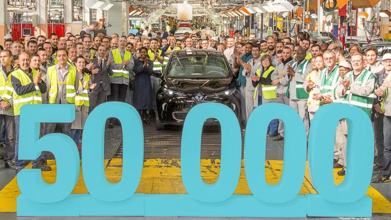 Renault sărbătorește 50.000 de exemplare Zoe