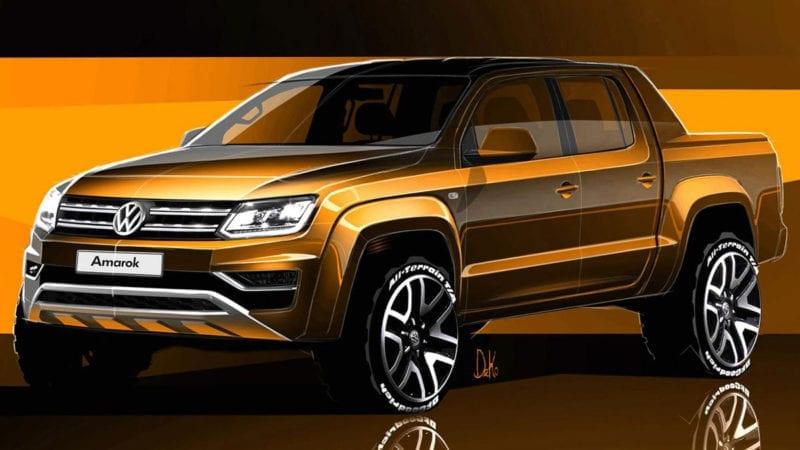 Volkswagen Amarok facelift – Trei schițe oficiale