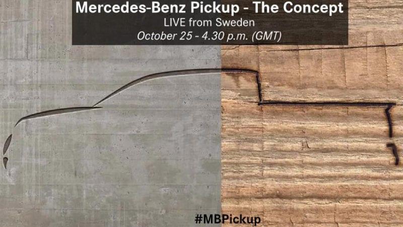 Primul pick-up produs de Mercedes-Benz va fi prezentat pe 25 octombrie