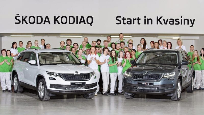 A început producția lui Skoda Kodiaq
