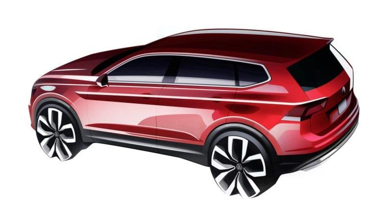 Volkswagen a publicat un teaser cu viitorul Tiguan Allspace