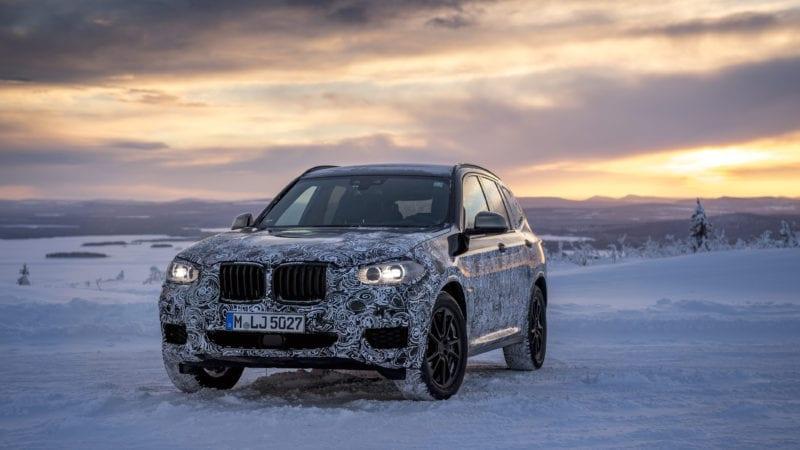 Noul BMW X3, testat în nordul Suediei. Primele poze cu versiunea de pre-serie