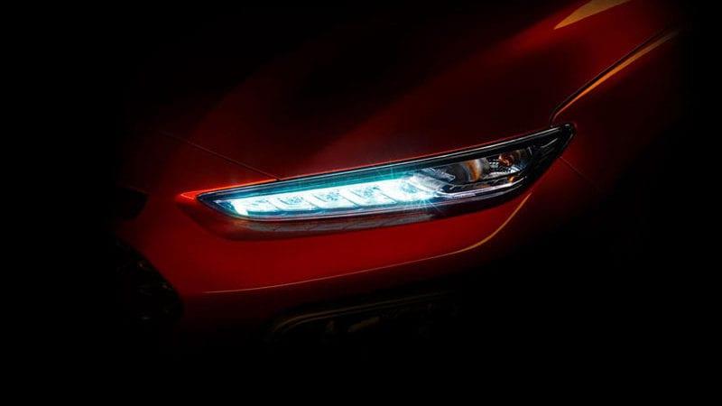Hyundai a publicat prima fotografie teaser cu viitorul SUV Kona