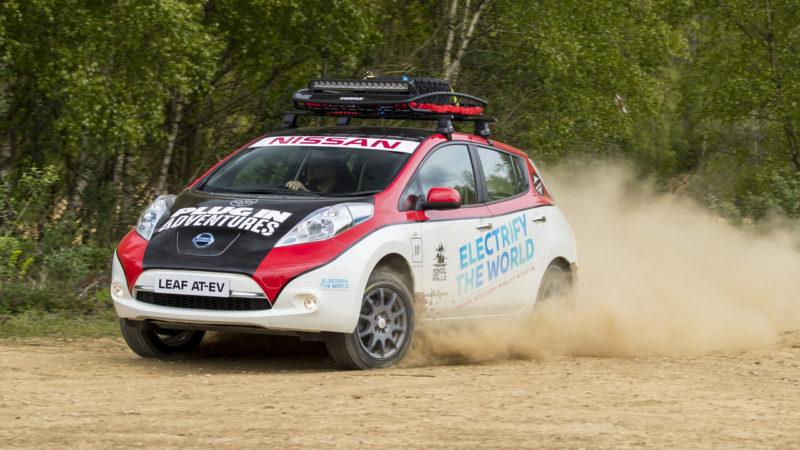Nissan Leaf o să concureze în Raliul Mongoliei