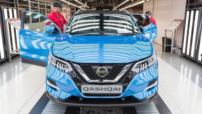 Nissan a început producția lui Qashqai facelift în Marea Britanie