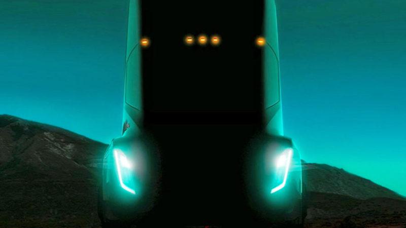 Prima imagine teaser cu viitorul camion Tesla