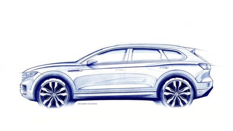 Prima imagine teaser cu noul Volkswagen Touareg