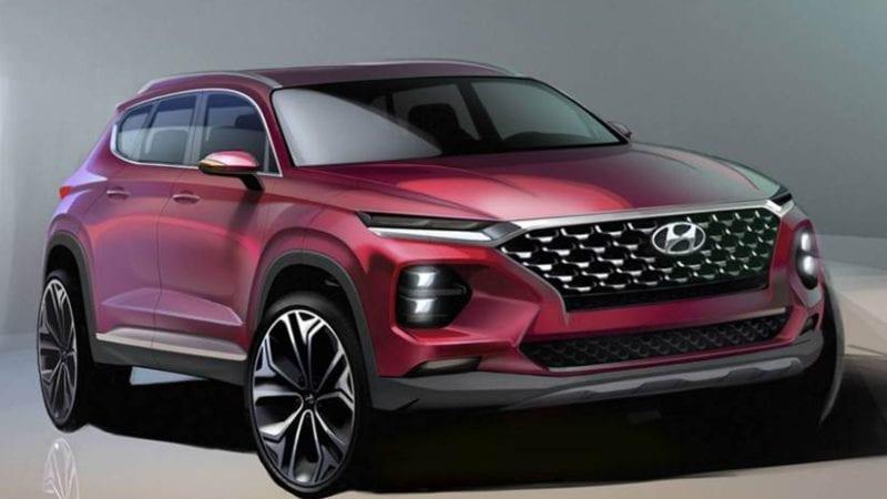 Primele schițe cu viitoarea generație Hyundai Santa Fe
