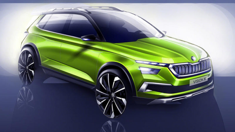 Schițe oficiale cu viitorul concept hibrid Skoda Vision X