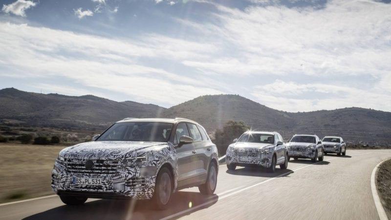Primele imagini cu viitoarea generație Volkswagen Touareg