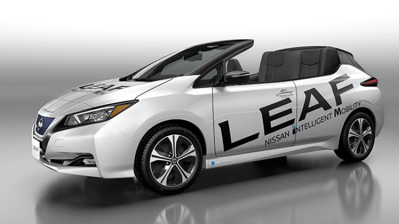 Nissan a pregătit un Leaf decapotabil