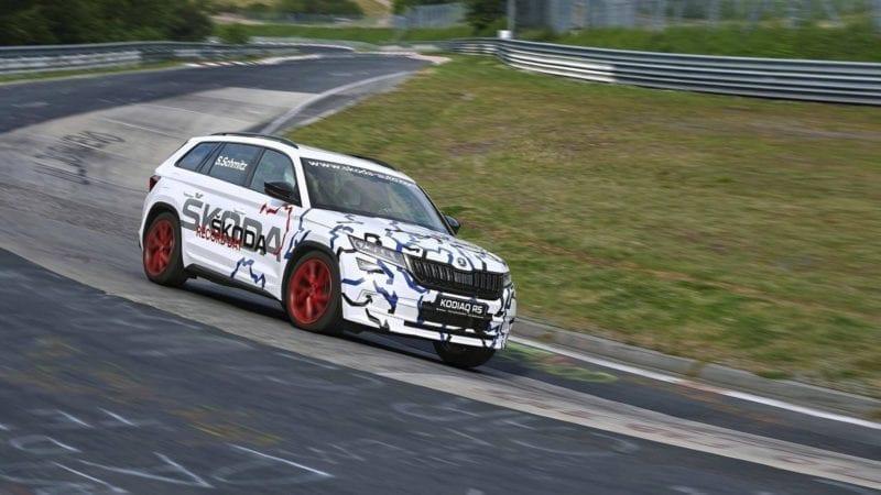 Skoda Kodiaq RS a devenit cel mai rapid SUV cu 7 locuri de pe Nurburgring