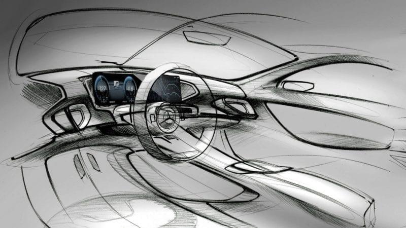 Primele schițe cu interiorul viitorului Mercedes-Benz GLE