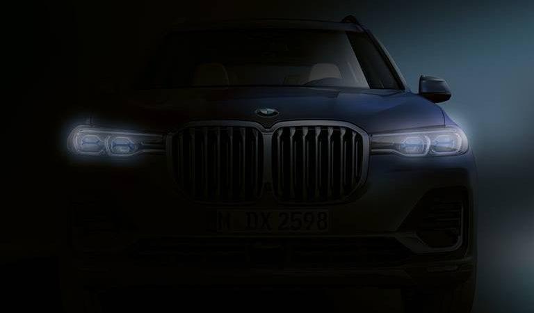 BMW a publicat o nouă imagine teaser cu viitorul SUV X7