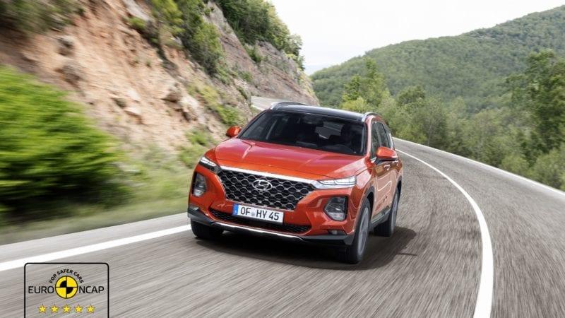 Noul Hyundai Santa Fe obține 5 stele la testele de siguranță EuroNCAP