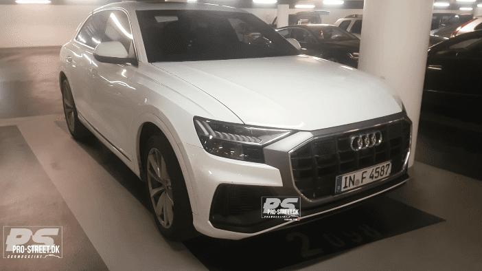 Viitorul Audi SQ8 filmat în Copenhaga