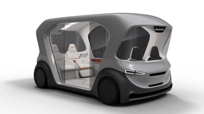 Bosch a publicat primele poze cu un shuttle electric și autonom