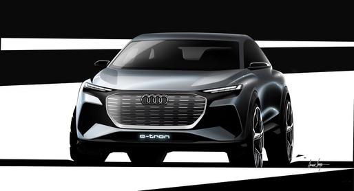 Audi a publicat primele imagini teaser cu noul concept Q4 e-tron