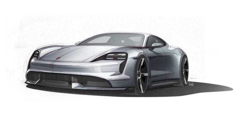 Porsche a prezentat primele schițe ale modelul electric Taycan