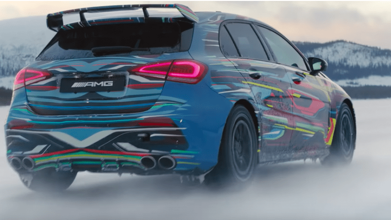 Mercedes-AMG A45 4Matic+ apare într-un nou teaser video