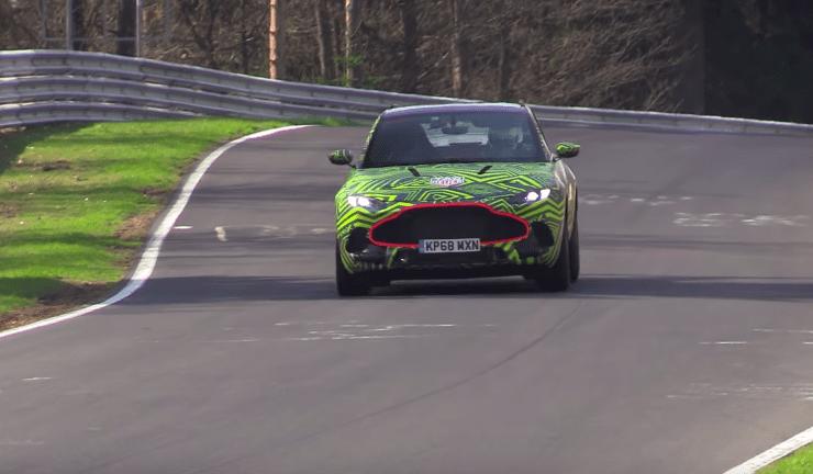 Aston Martin DBX este testat la Nurburgring