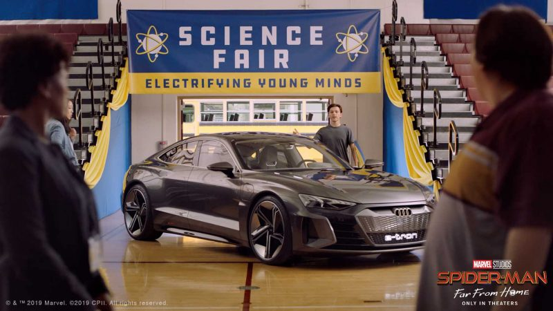Audi e-tron GT este vedeta unui trailer care anunță noul film Spider-Man: Far From Home