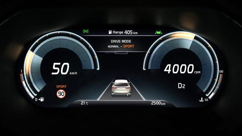Prima imagine cu bordul digital al viitorului Kia XCeed