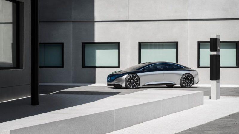 Mercedes-Benz Vision EQS este prototipul electric expus de nemți la Frankfurt
