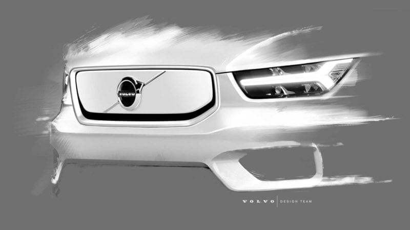 Imagini teaser cu viitorul Volvo XC40 electric