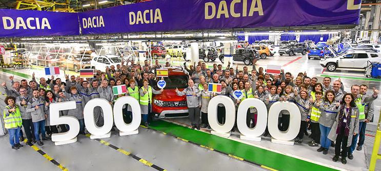 Actuala generație Dacia Duster a ajuns la borna 500.000 de unități produse la Mioveni