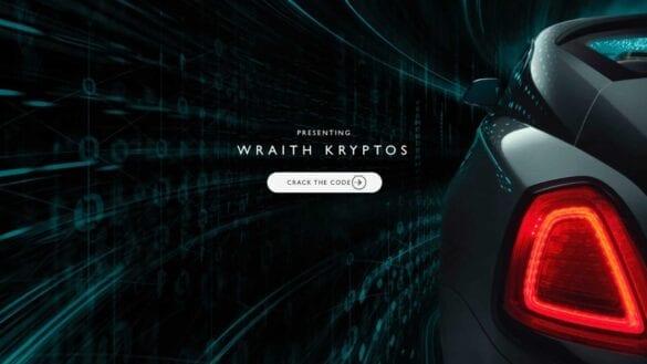 Rolls-Royce Wraith Kryptos joc interactiv