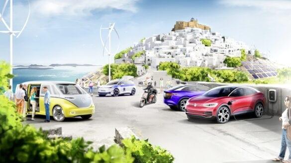 Experiment electric Volkswagen pe insula Astypalea din Grecia